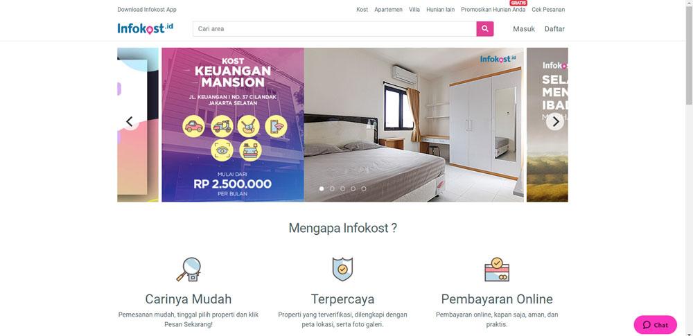Aplikasi Cari Kost Online - Infokost