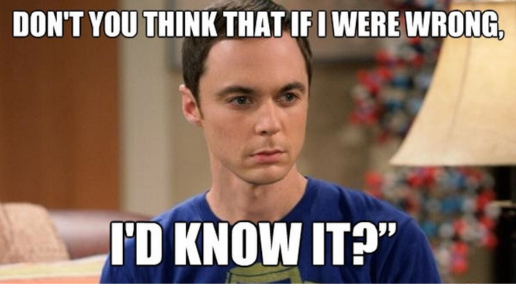 i am never wrong sheldon cooper