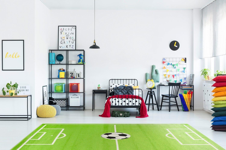 Dywan dla chłopca - boisko do piłki nożnej