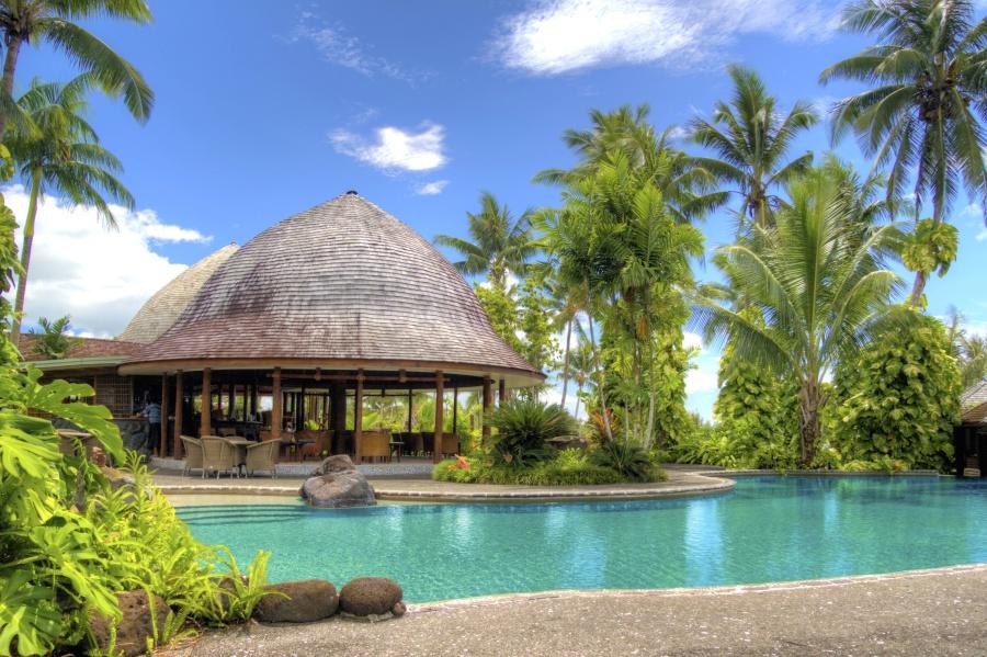 Hotel, lujo, palma, verano, piscina, viaje, trópico