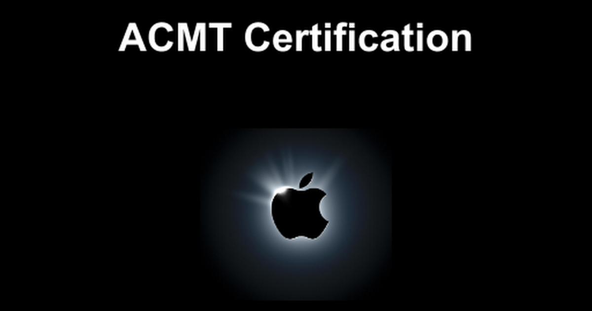 Acmt Certification Google Slides
