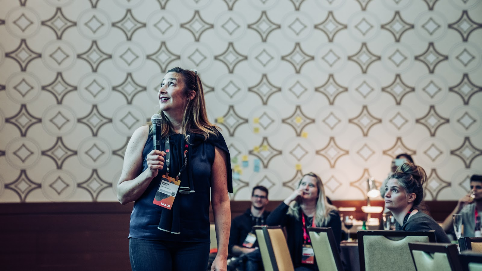 Michele Ronson, UX researcher and head of Ronson Consulting LLC, presents at XD Summit 2019.