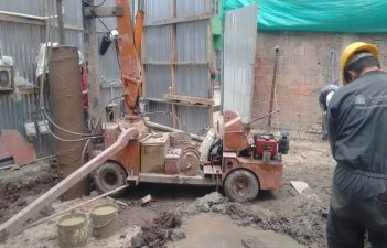 Micropiles in tight spaces