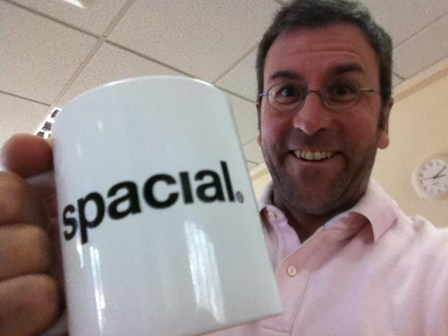 Our quirky Managing Director and his Spacial mug