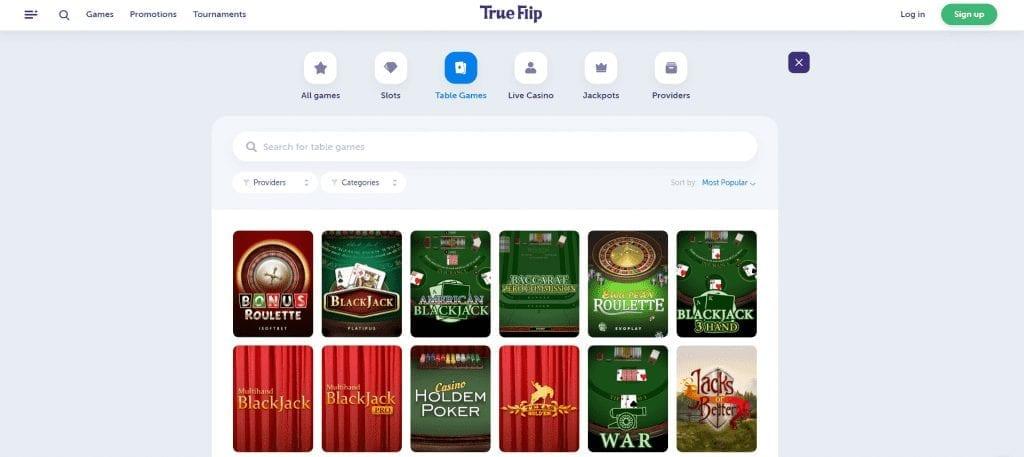 TrueFlip Table Games