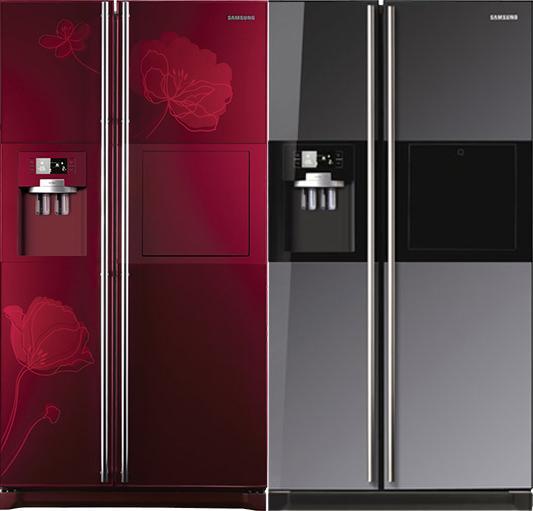 tủ lạnh màu đỏ hoặc màu kim