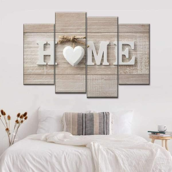 Love at Home Multi Panel Canvas Wall Art