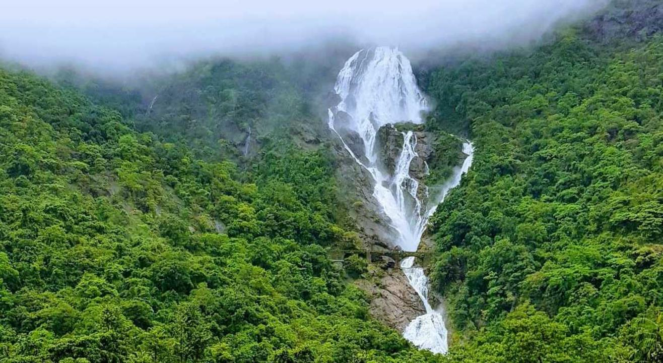 Dudhsagar Falls, one of the places to visit in South Goa, India