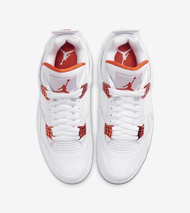"""Air Jordan 4 Retro Metallic Orange"" การปรับแต่งสีใหม่ของ Jordan 4 02"