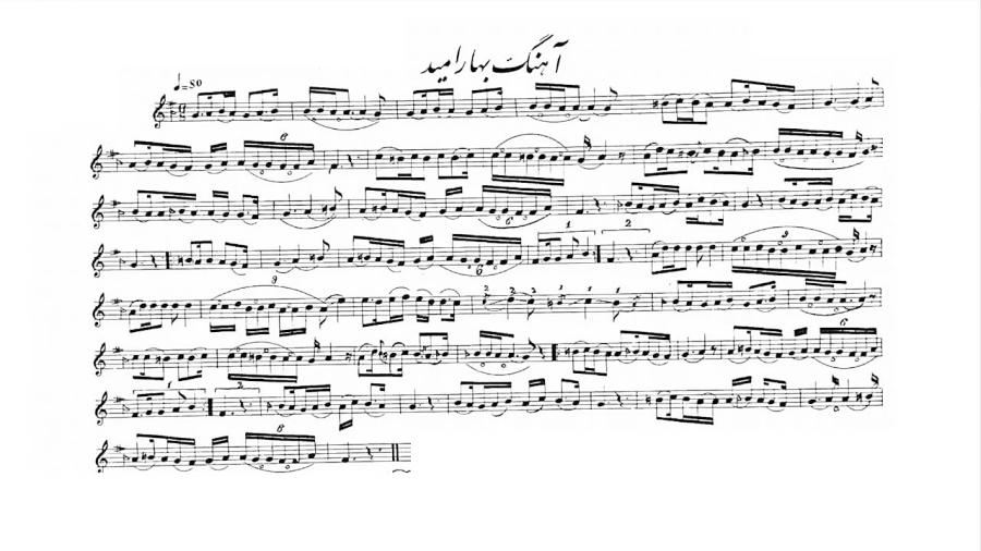 دانلود نت بیستوهشت آهنگ و تصنیف قدیمی دورهی ابتدایی تار و سهتار نیما فریدونی