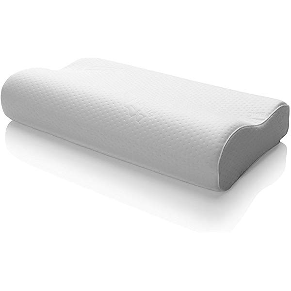 Image result for Tempur-Pedic Neck Pillow Firm Feel & Ergonomic Design, Medium, White