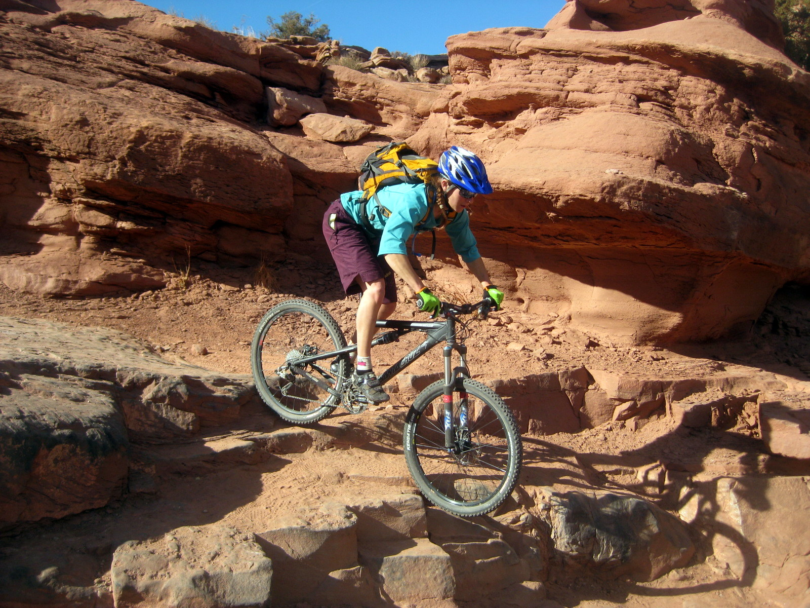 Moab downhill bike trails