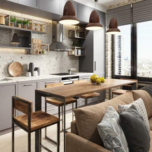 How to Place Everything you need in the Kitchen in a Studio Apartment