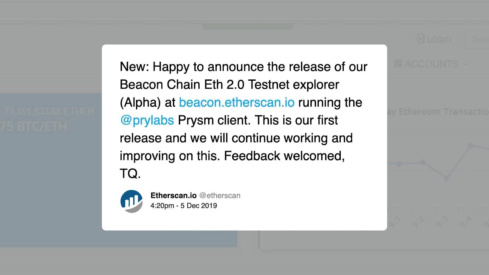 Etherscan Ethereum 2.0