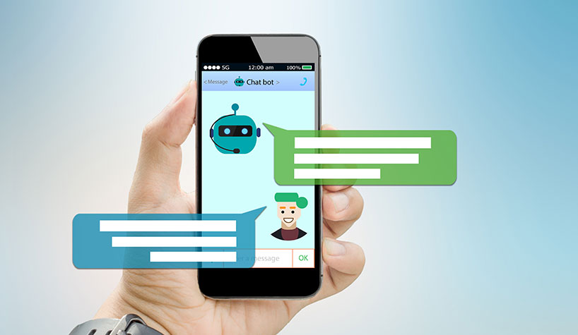 Mobile screen displaying a chatbot.