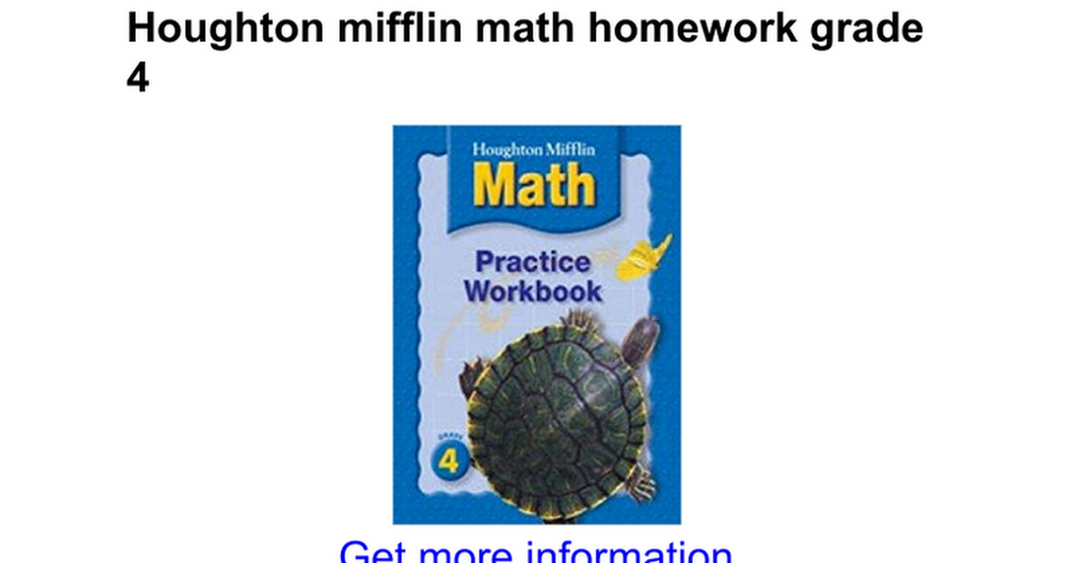 Houghton Mifflin Math Worksheets Grade 4 number names worksheets – Houghton Mifflin Math Worksheets Grade 4