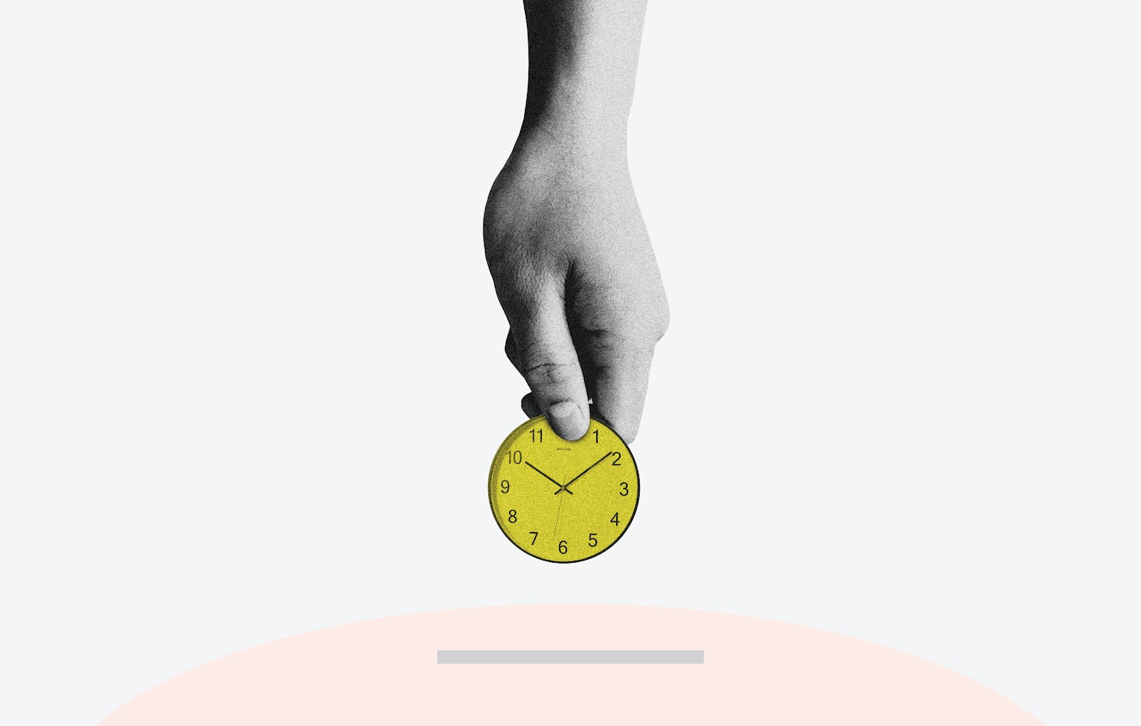 hand holding clock time tracking for msps
