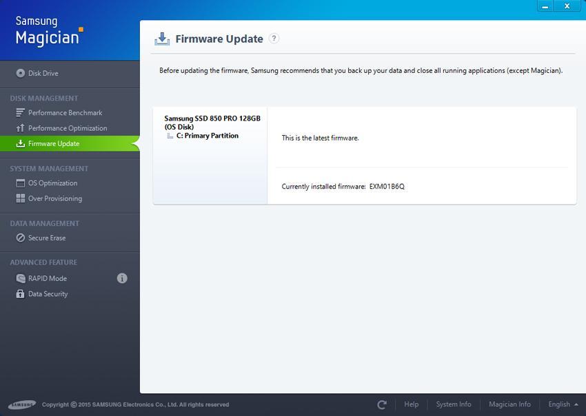 Update Firmware mới nhất để cập nhật các tính năng mới