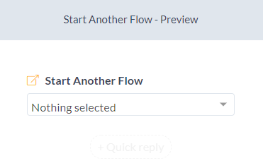 start another flow configuration - silfer bots