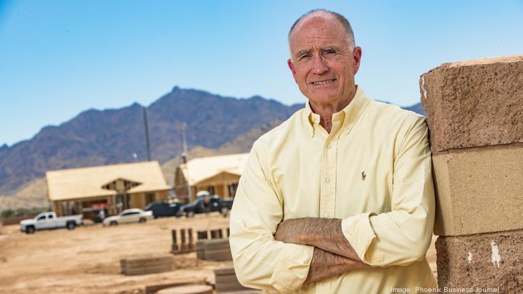 John Bradley, president of Brookfield Residential's Arizona market, surveys the initial homebuilding at Alamar in Avondale.