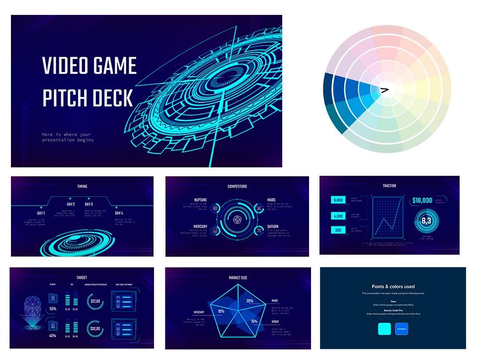 A presentation with an analogous color scheme