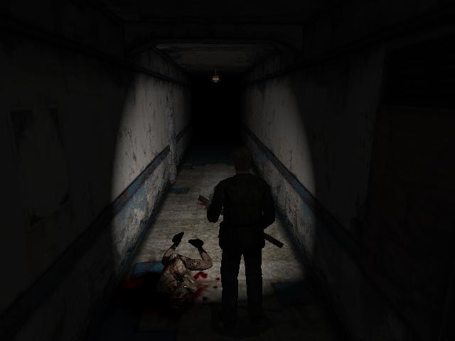 Dark corridor (Silent Hill 2)
