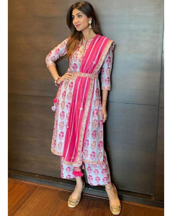 Shop Online Trendy Bollywood Style Lavender Digital Printed Suit