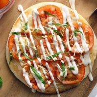 quick and easy movie night snacks pizza with cream sauce