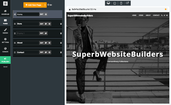 Overall Thoughts about Site123 - wordpress alternatives