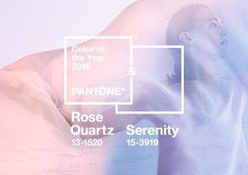 Color of the Year 2016: PANTONE 13-1520 Rose Quartz & PANTONE 15-3919 Serenity