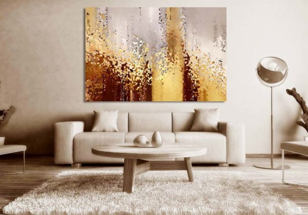 Wall Art Living Room Decoration With A Large Chic Painting Or Canvas