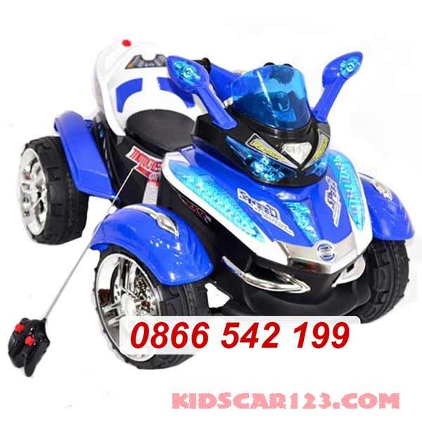 xe mô tô điện 4 bánh HC -1058 màu xanh dương