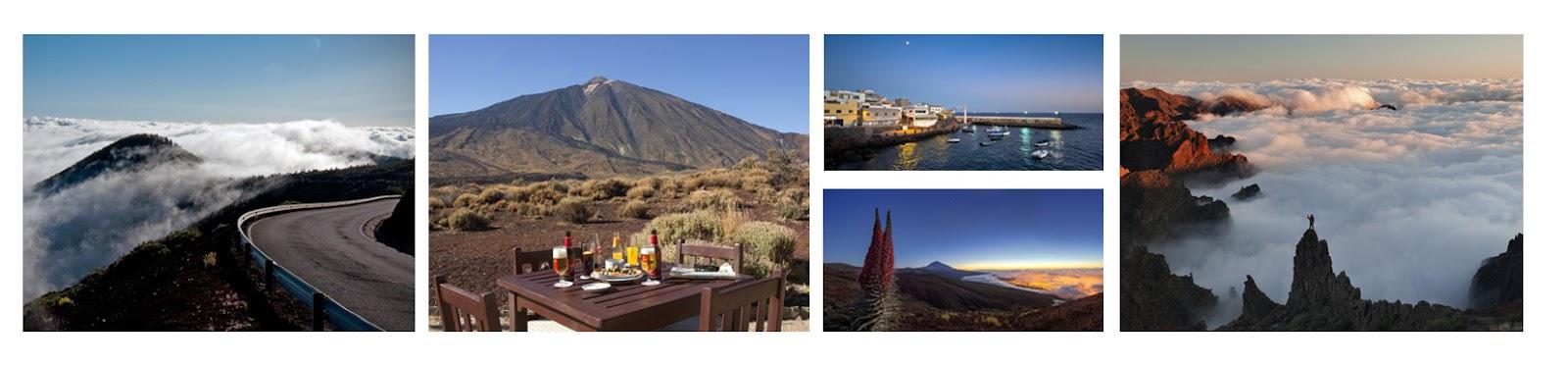 El Teide, Las Cañadas, Vistas en el Parador. Ruta con moto por Tenerife