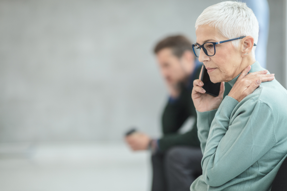 woman talking on phone about her successful online business