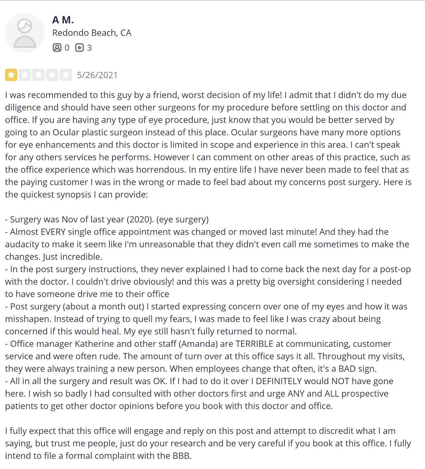 Dr. Randal Haworth review 6