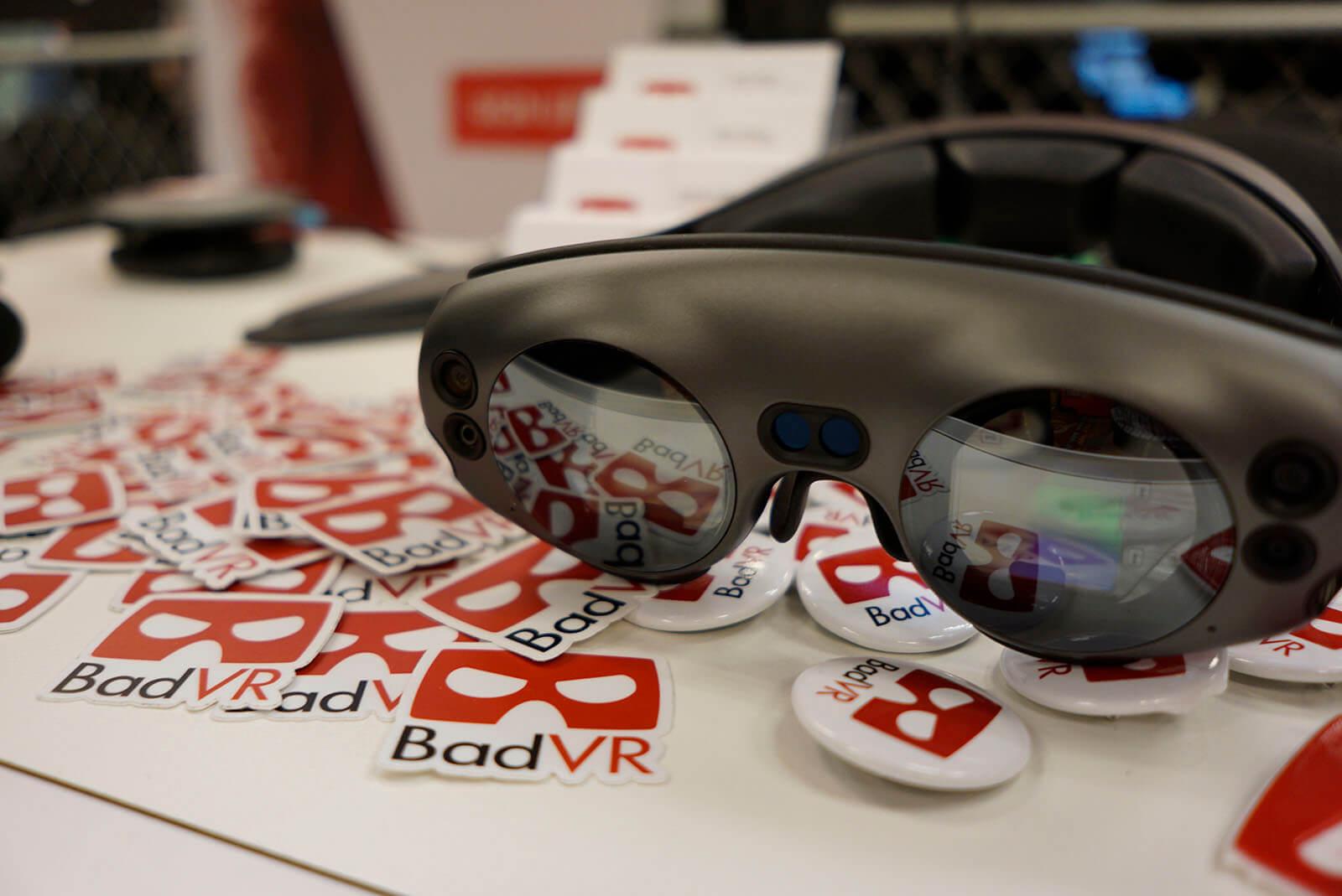 BadVR logos and VR goggles