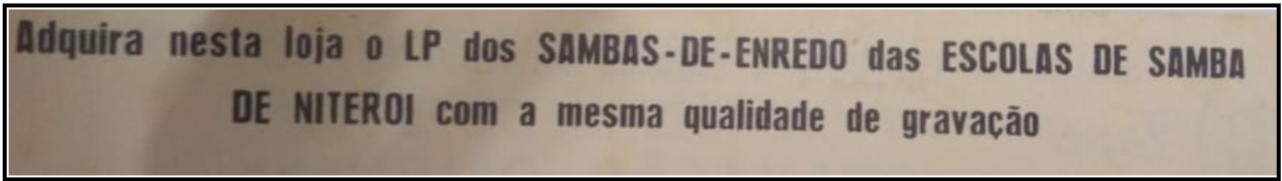 Trecho do encarte do LP Carioca de 1979 - Acervo de João Perigo