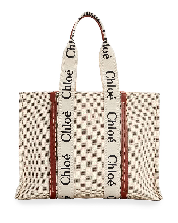 chloe woody tote
