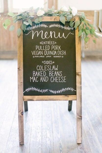 wedding ideas - wedding ideas blog by K'Mich in Philadelphia PA -  wedding planning - wedding signs - menu chalk board