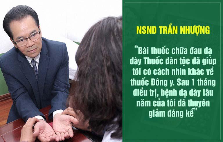 NSND Trần Nhượng khẳng định Thuốc dân tộc là địa chỉ chữa trào ngược dạ dày uy tín