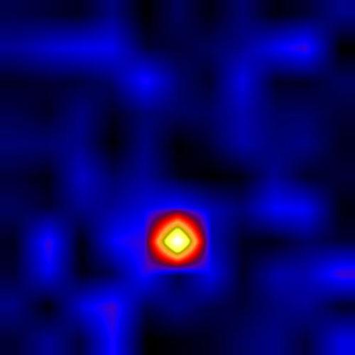 Figura 3: Imagen en rayos X de Cygnus X-1 tomada con el telescopio HERO a bordo de un globo aerostático. NASA
