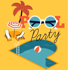 Image result for pool party cartoon