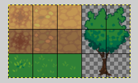 Kibo world: Create custom tileset in Gimp