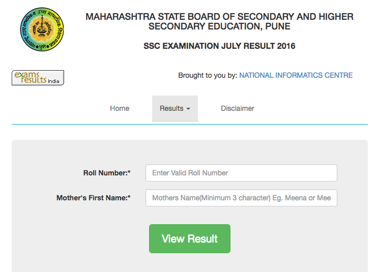 HSC RESULTS ENTER YOUR EXAM NUMBER ANS SUBMIT