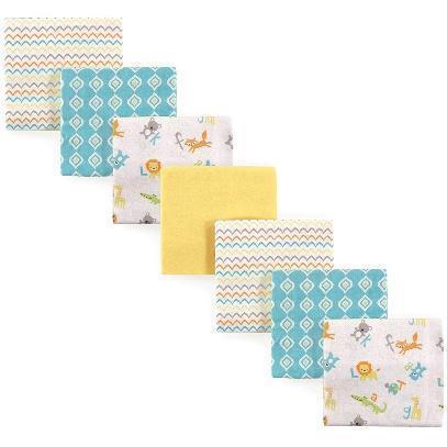Luvable Friends Unisex Baby Cotton Flannel Receiving Blankets Bundle