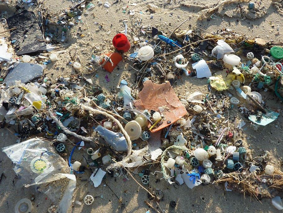 garbage on seashore, Guise, Plastic, Waste, Sea, Mare, plastic, waste,  pollution   Piqsels