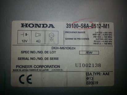 Honda Civic Radio Code >> Free Radio Codes For Honda Civic 2002