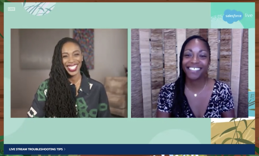 Salesforce Chief Philanthropy Officer and CEO of the Salesforce Foundation Ebony Beckwith speaks with OUSD Superintendent Dr. Kyla Johnson-Trammell