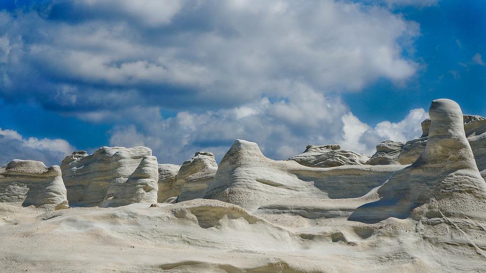 Eroded Rocks Of Sarakiniko