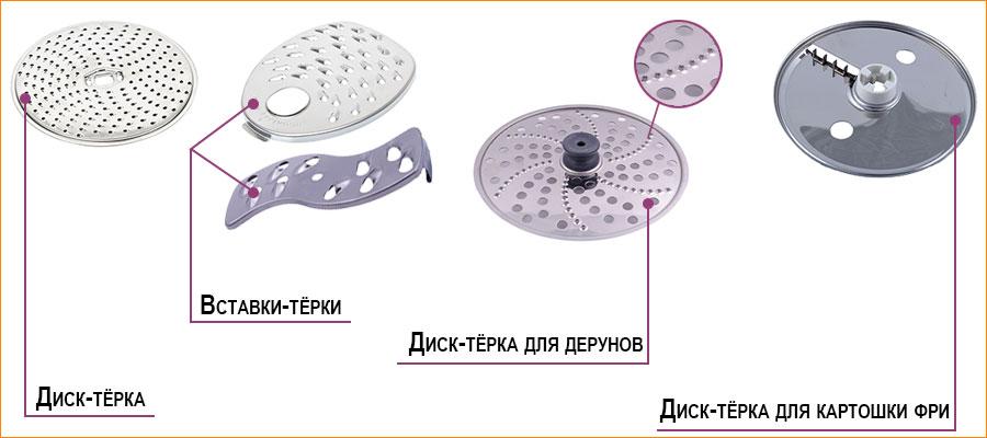 Разновидности насадок для кухонных комбайнов